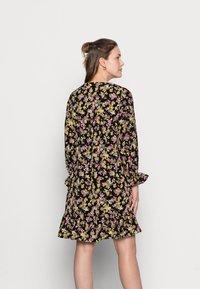 MAMALICIOUS - MLEMRA WOVEN DRESS  - Day dress - black/snow white / fall leaf /dewberry - 2
