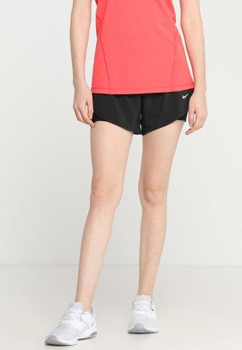 SHORT 2-IN-1 - Sports shorts - black/white