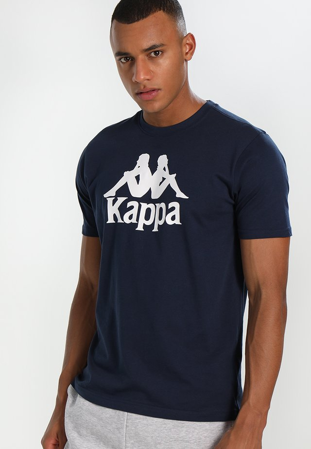 CASPAR - Camiseta estampada - navy