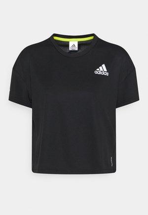 P.BLUE TEE - Camiseta estampada - black/silver