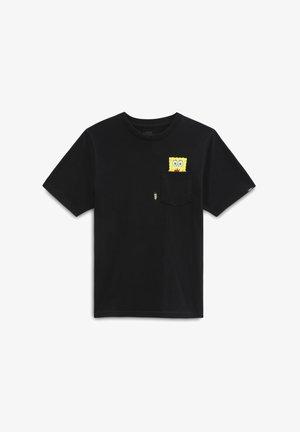BY VANS X SPONGEBOB SPOTLIGHT PCKT BOYS - T-shirt print - black