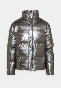 BOXY PUFFER JACKET - Giacca invernale - holographic steel