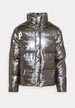 BOXY PUFFER JACKET - Veste d'hiver - holographic steel