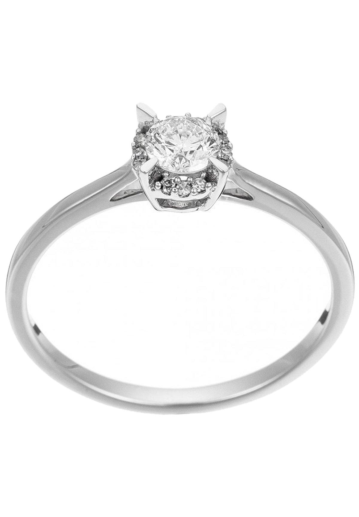 Damen WHITE GOLD RING 18K CERTIFIED 13 DIAMONDS HSI AND 12 DIAMONDS 0.03 CT - Ring