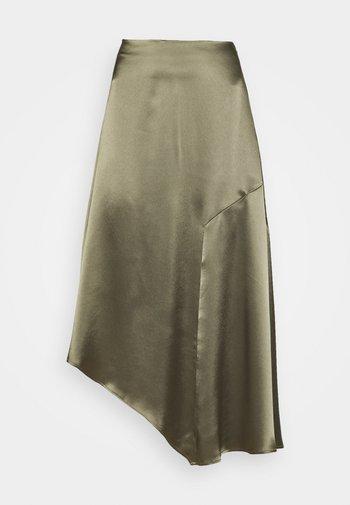 ANI SKIRT - Maxi skirt - olive green