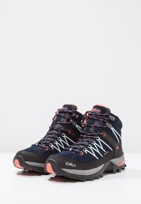 CMP - RIGEL MID TREKKING SHOE WP - Outdoorschoenen - blue/giada/peach - 3