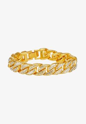 BIG BRACELET WITH STONES - Armband - gold-coloured