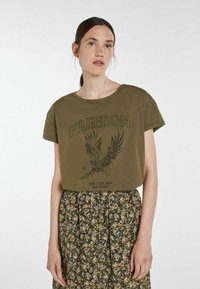 SET - ICON - Print T-shirt - ivy green - 0