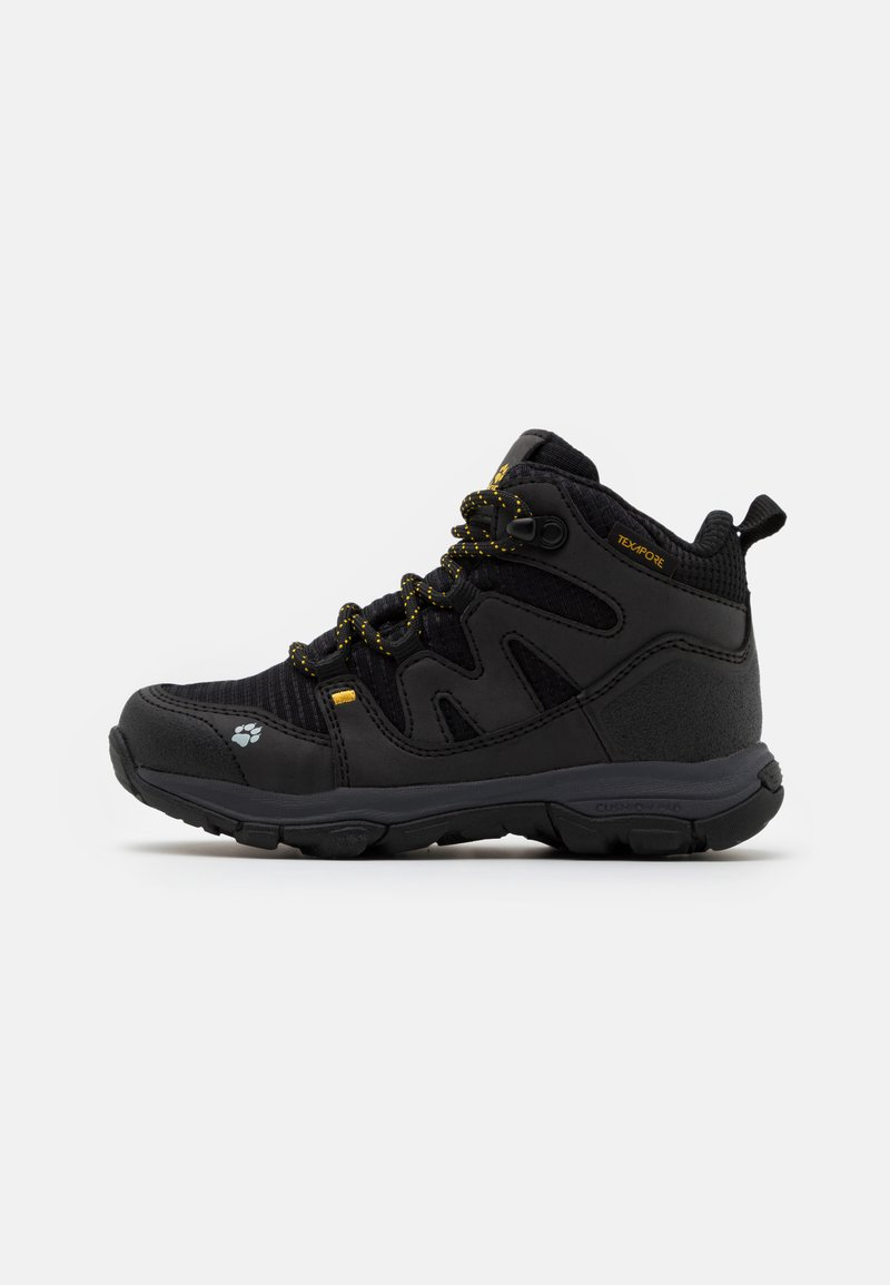 Jack Wolfskin - MTN ATTACK 3 TEXAPORE MID UNISEX - Hiking shoes - black/burly yellow