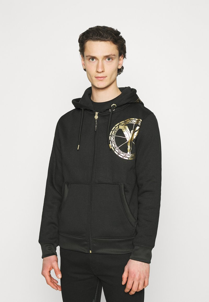 Carlo Colucci - DONNAY X CARLO COLUCCI - Zip-up hoodie - black/gold