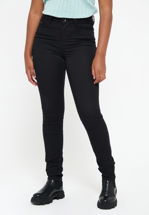 WITH HIGH WAIST - Jeans Skinny Fit - black