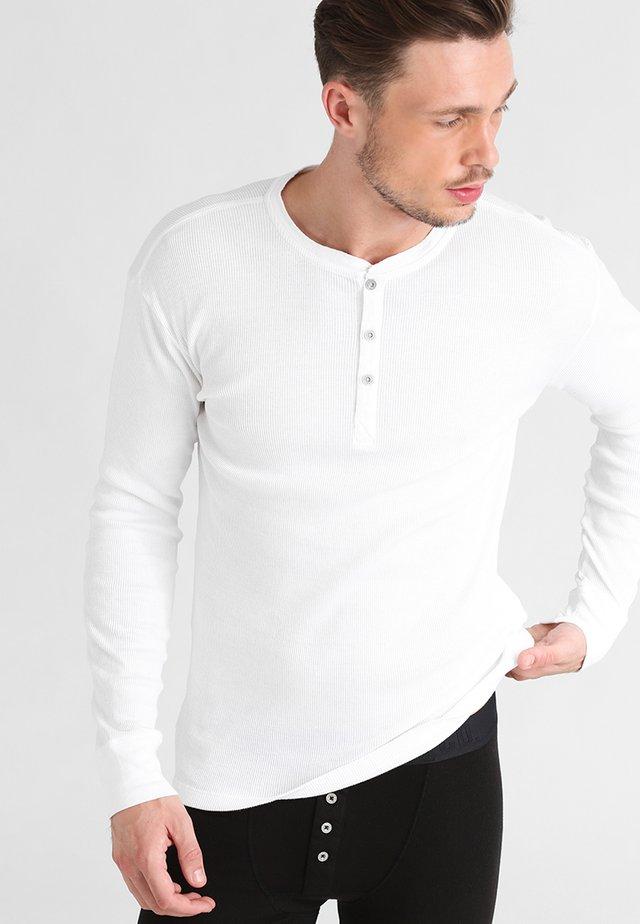LEVIS 300LS LONG SLEEVE HENLEY - Pyjamasoverdel - white