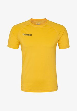 FIRST PERFORMANCE  - Print T-shirt - sports yellow