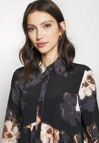 River Island - LISA SMOCK SHIRT DRESS  - Shirt dress - black - 3