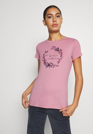 AT HOME - Print T-shirt - dusty pink
