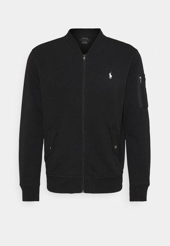 LONG SLEEVE - Zip-up sweatshirt - black