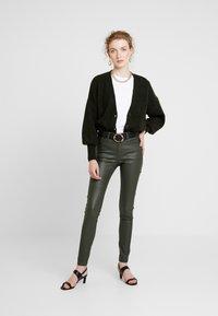 b.young - KATO KIKO - Trousers - peat green - 1