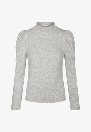 Long sleeved top - hellgrau meliert