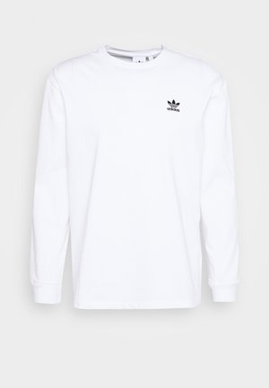 Langærmede T-shirts - white/black