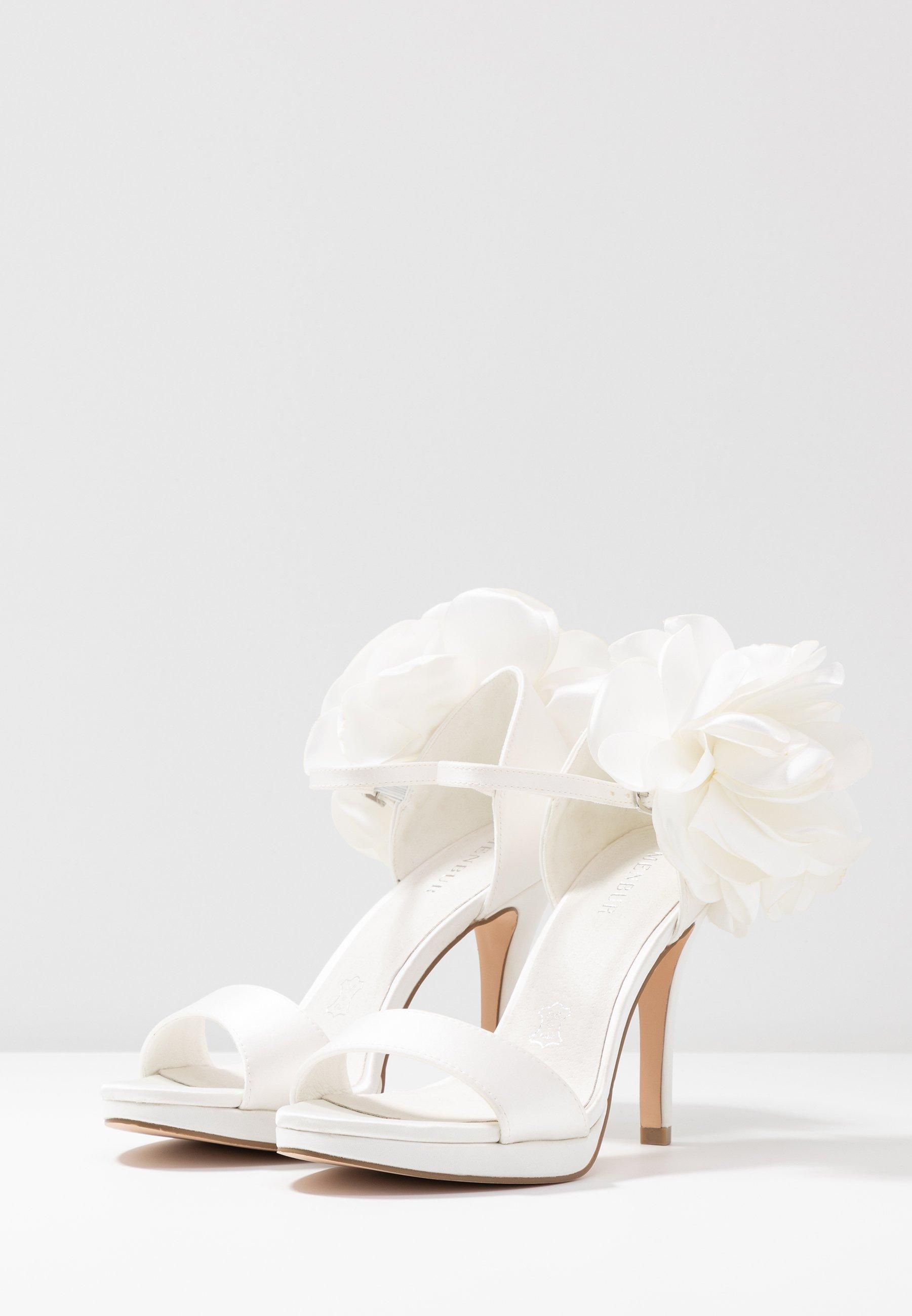 Menbur High Heel Sandalette ivory/weiß