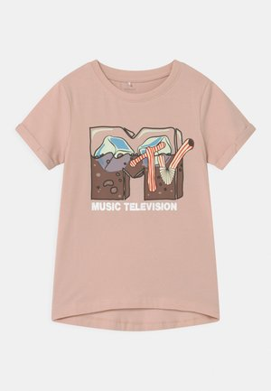 NKFMTV - T-shirt print - peach whip