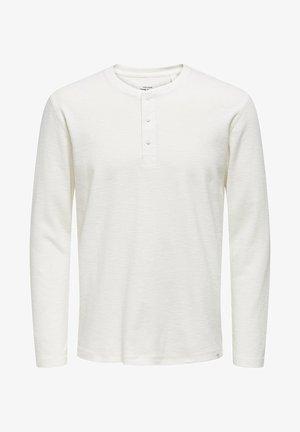 GRANDAD - Camiseta de manga larga - cloud dancer
