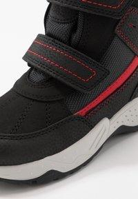 Geox - SENTIERO BOY WPF - Winter boots - black/red - 2