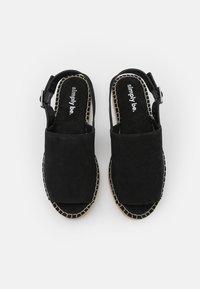 Simply Be - WIDE FIT RACHAEL - Platform sandals - black - 5