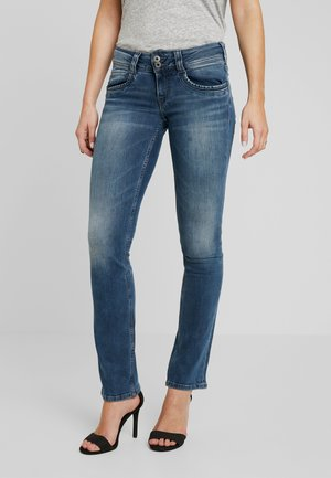 GEN - Straight leg jeans - denim washed down
