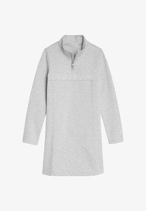 SHADOW MOCK NECK PUNTO  - Jersey dress - light grey heather