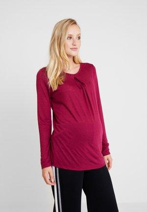 Long sleeved top - plum red