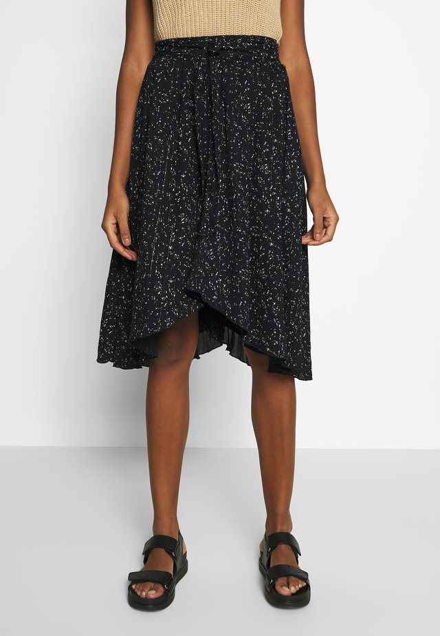 BASMA - A-line skirt - black