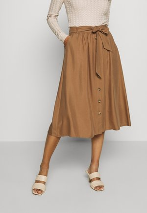 SKIRT MIDI - A-Linien-Rock - noisette