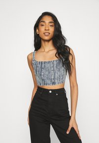 Missguided - CORSET - Top - blue - 0