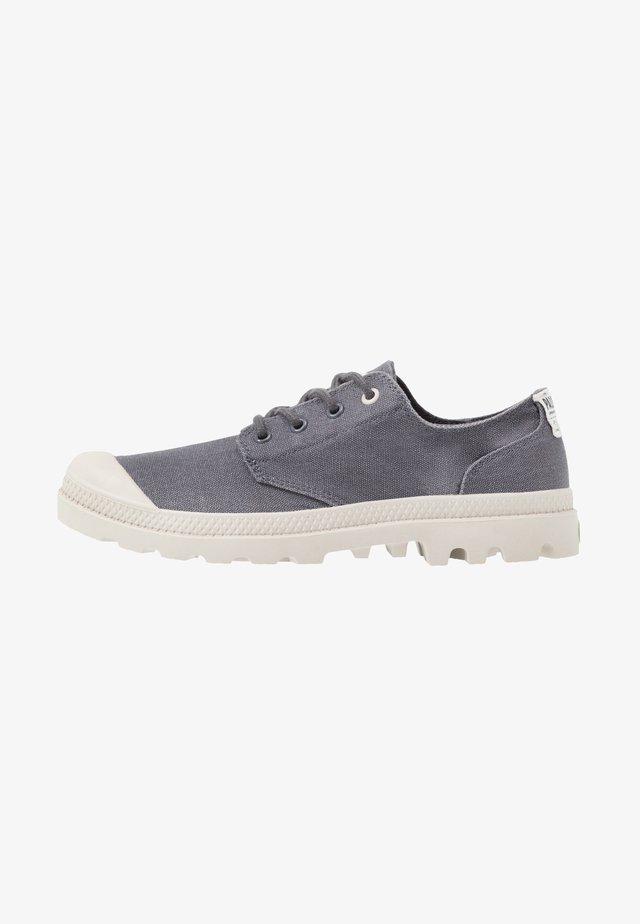 PAMPA ORGANIC - Volnočasové šněrovací boty - asphalt