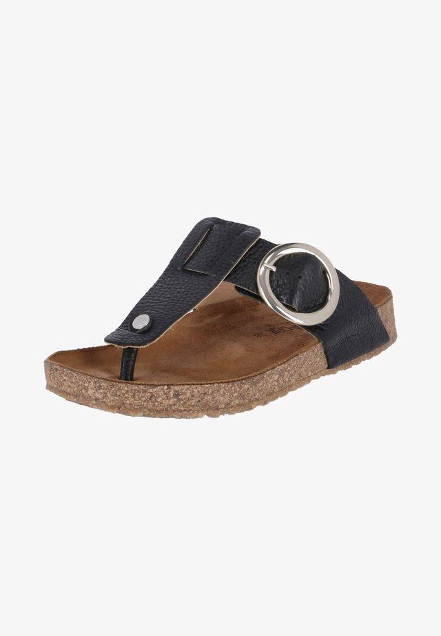 ROUND BUCKLE CORINNA - T-bar sandals - schwarz
