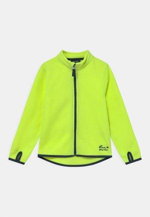 KIDS BOYS - Fleece jacket - neon yellow