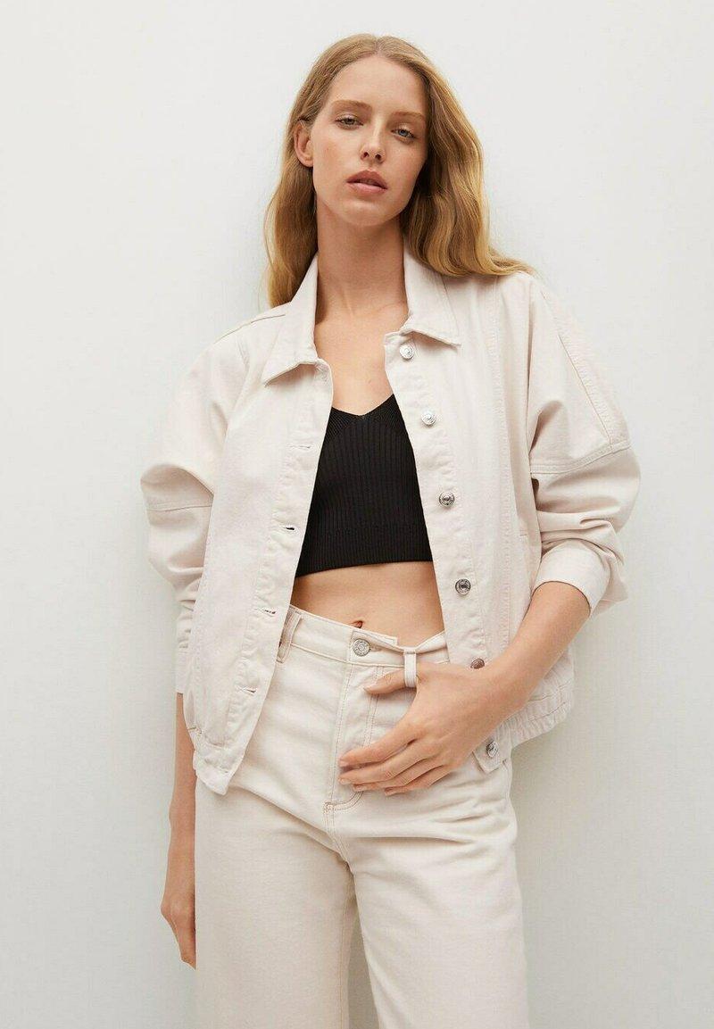Mango - Summer jacket - ecru