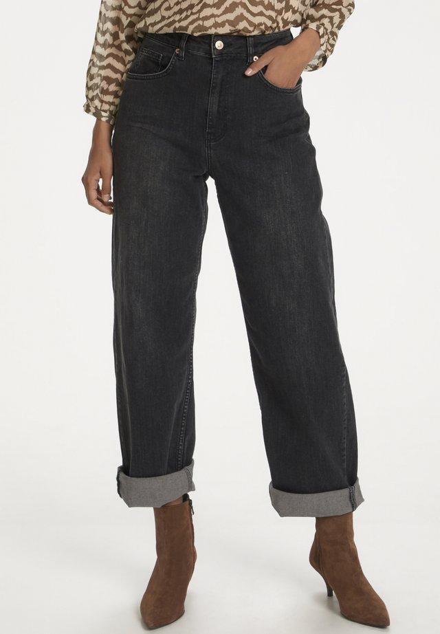 ESRAAPW  - Straight leg jeans - washed black denim