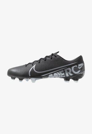 MERCURIAL VAPOR 13 ACADEMY FG/MG - Moulded stud football boots - black/metallic cool grey/cool grey