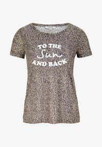 comma casual identity - MIT STATEMENT-PRINT - Print T-shirt - dark khaki - 4