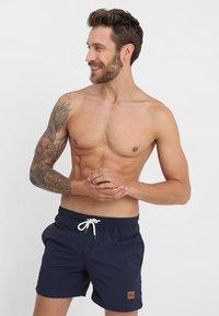 Urban Classics - BLOCK - Swimming shorts - navy - 0