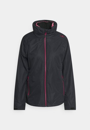 WOMAN JACKET ZIP HOODDETACHBLE - Hardshell jacket - antracite