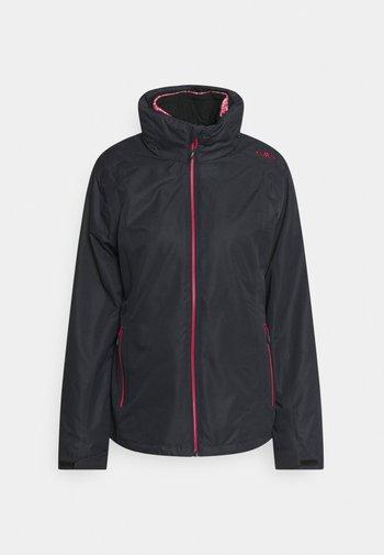 WOMAN JACKET ZIP HOODDETACHBLE SET - Hardshell jacket - antracite