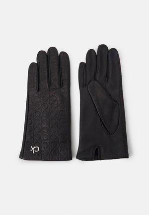 LOCK EMBOSSED GLOVES - Gloves - black
