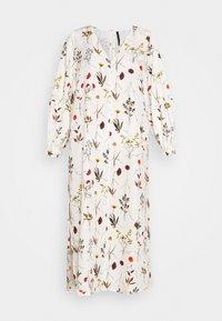 Mother of Pearl - VNECK MIDI DRESS WITH ROPE CUFF TIE - Vestito estivo - herbarium ivory - 6