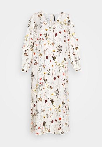 VNECK MIDI DRESS WITH ROPE CUFF TIE - Day dress - herbarium ivory