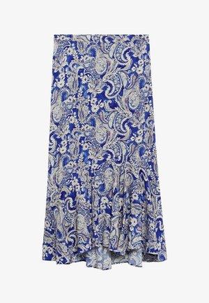 DANIELA - A-lijn rok - blauw