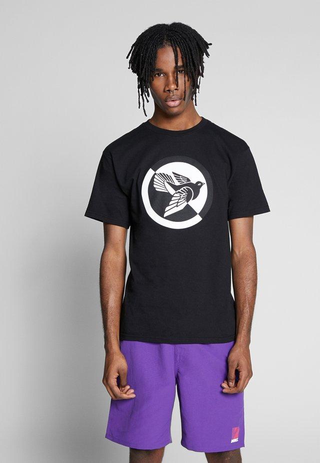 OBEY SPLIT DOVE - T-shirt z nadrukiem - black