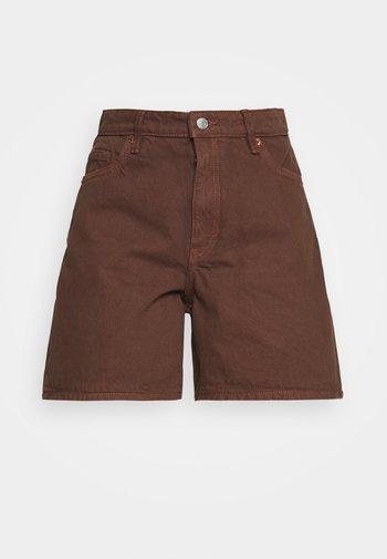 EMMA  - Jeansshorts - brown dark/unique brown
